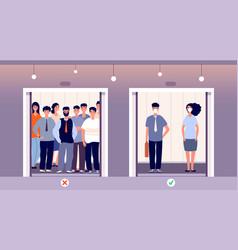 Distance in elevator self protection flu virus vector