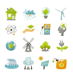 Eco Energy Icons Flat vector image