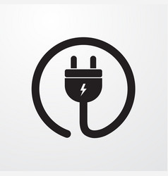 Electrial plug power cord icon for web and mobile vector
