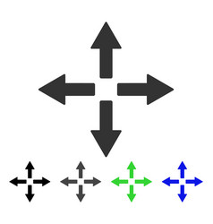 Expand arrows flat icon vector