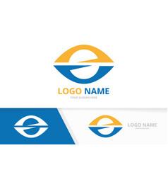 eye logo combination unique vision vector image