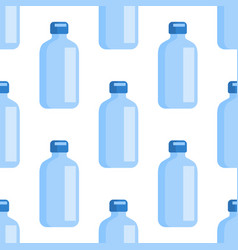 flat icon with blue bottle medical seamless vector image