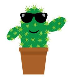 funny cactus vector image