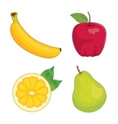 Glossy fruit set vector image