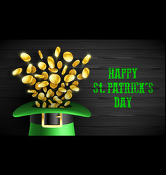 happy saint patricks day greeting card design vector image