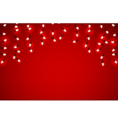 Holidays garlands light vector