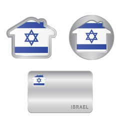 Home icon on the Israel flag vector image