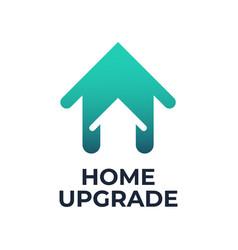 Home upgrade logo vector