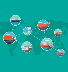 international shipping and logistics concept vector image