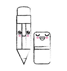 Kawaii pencil icon vector