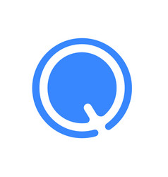 letter logo modern abstract blue icon of q vector image