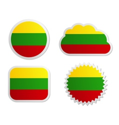 Lithuania flag labels vector image