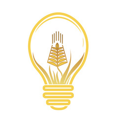logotype agriculture logo with a field of vector image