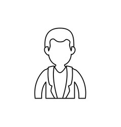 male doctor profile vector image