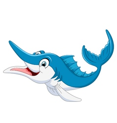 Marlin fish cartoon vector