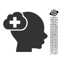 Medical idea cloud icon with work bonus vector