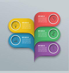 Modern infographics bubble speech template style vector