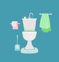 modern toilet with sink vector image