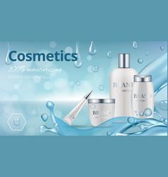 moisturizing cosmetics ad poster realistic vector image