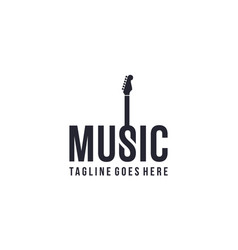 Music with guitar icon for logo design vector