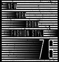 new york typography design vector image
