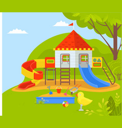 playground for kids children dreamland in park vector image