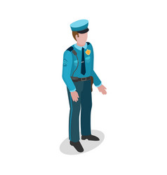 policeman in uniform 3d isometric style vector image