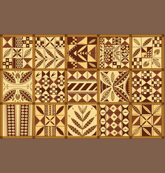 Polynesian ethnic style ornament vector