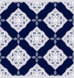 Portuguese azulejo tiles blue and white gorgeous vector