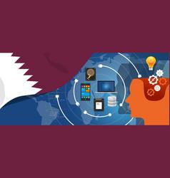 qatar information technology digital vector image