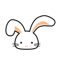 Rabbit animal happy easter icon graphic vector