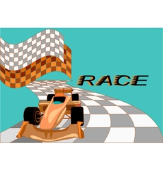 race background with car vector image