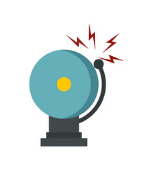 ringing fire alarm bell icon flat style vector image