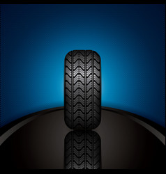 rubber tire vector image