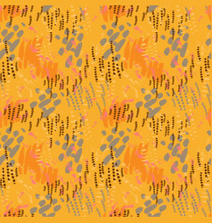 safari pattern on striped background vector image