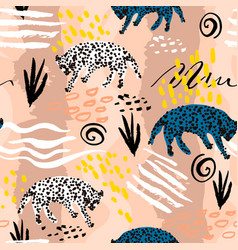 seamless pattern in african tribal style texture vector image