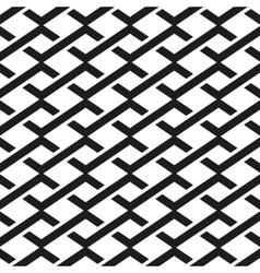 Seamless pattern Linear geometric ornament vector