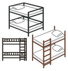 set of bunk bed vector image