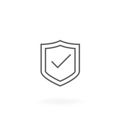 shield with checkmark vector image