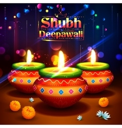 Shubh Deepawali Happy Diwali background with vector