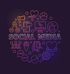 social media circular concept colored vector image