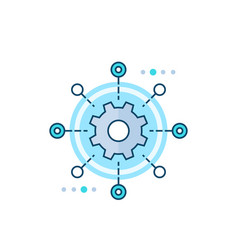 Software testing automation icon vector