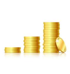 stacks golden coins vector image