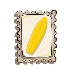 Surf board postal seal vector