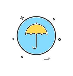 umbrella basic icon design vector image
