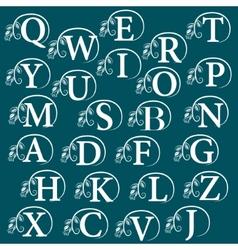 Vintage Alphabet design element vector
