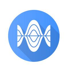 Voice recording blue flat design long shadow vector