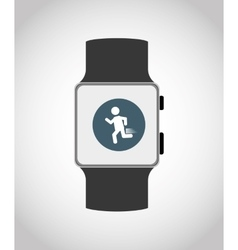 Wearable mobile technology vector