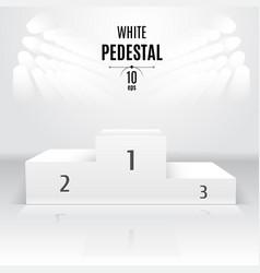 white 3d-pedestal template exhibition place vector image