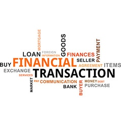 word cloud financial transaction vector image